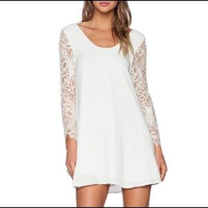 Lovers + Friends White Shift Dress